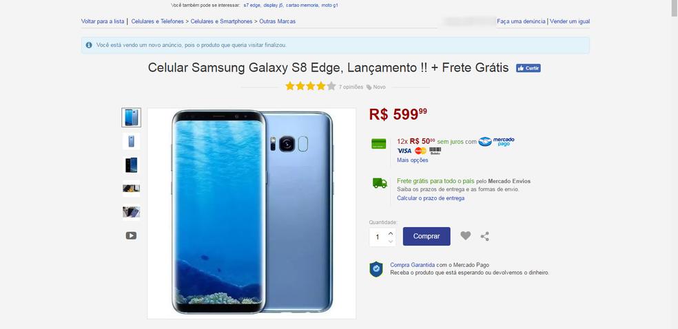 Anúncio do Galaxy S8