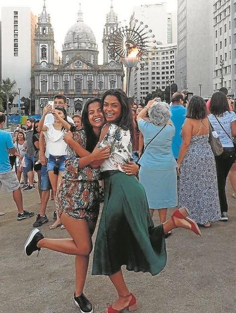 Lucy Alves e Rayza Alcântara (Foto: Arquivo pessoal)
