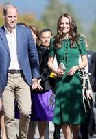 Kate Middleton usa vestido verde de R$ 8 mil no tour pelo Canadá