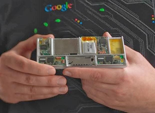 Esqueleto do smartphone modular, que pode ser montado e desmontado, do Projeto Ara, do Google. (Foto: Divulgação/Google)