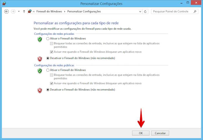 Ativando ou desativando o firewall do Windows 8 (Foto: Reprodução/Helito Bijora)