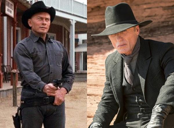 Yul Brynner em Westworld - Onde Ninguém Tem Alma (1973) e Ed Harris em Westworld (2016) (Foto: Divulgação)