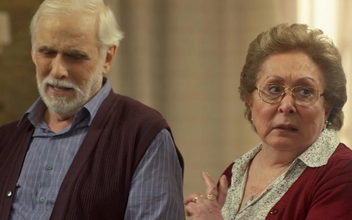 Segredo de Gaetano e Geppina é revelado para a família (Foto: TV Globo)