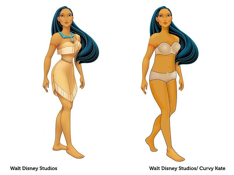 Pocahontas reimaginada pela marca Curvy Kate (Foto: Divulgação)