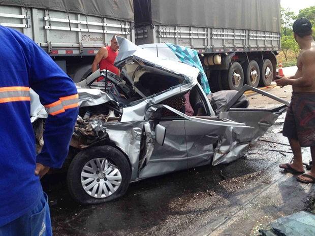 Idosa que estava como passageira morreu por conta do acidente, na BR-364, em Mato Grosso. (Foto: Elton Santos/Arquivo pessoal)