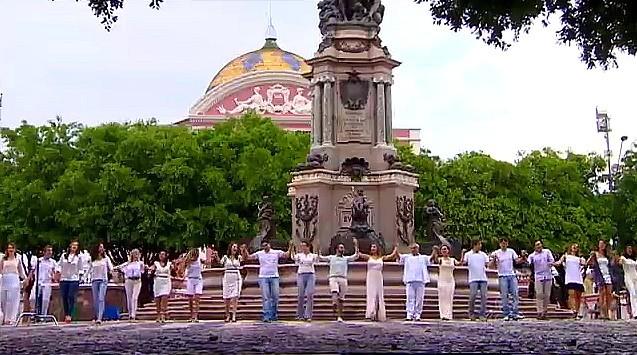Apresentadores da Rede Amazônica gravam clipe de Fim de Ano (Foto: Rede Amazônica)