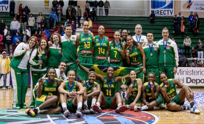 Brasil sul-americano basquete feminino (Foto: Divulgação/Fiba-Américas)