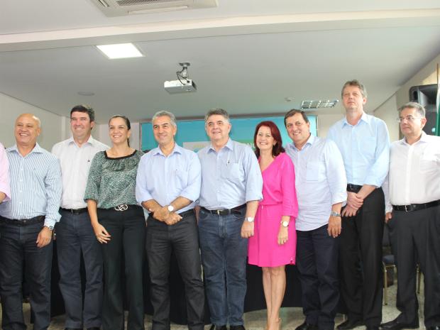 Secretários de Estado nomeados nesta segunda-feira (22), em Campo Grande (Foto: Graziela Rezende/G1 MS)