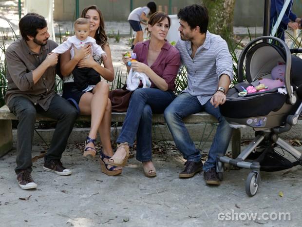 Os dois admitem que não vão dar conta dos filhos sozinhos (Foto: Fábio Rocha / TV Globo)