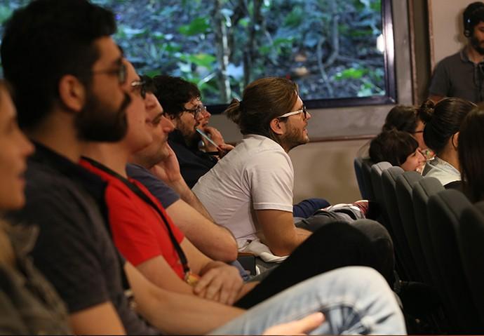 Os finalistas do Globo Lab ouviram dicas e conselhos para a viabilização das ideias (Foto: Geane Carvalho / TV Globo)