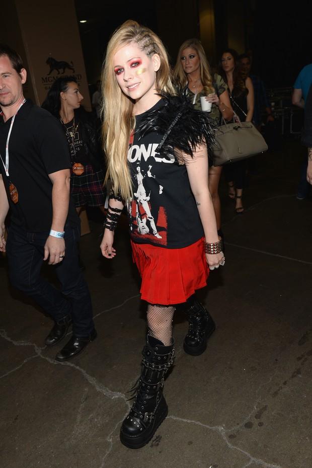 Avril Lavigne em evento em Las Vegas (Foto: AFP / Agência)