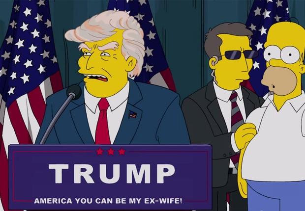 """O bilionário Donald Trump aparece em episódio da série """"Os Simpsons"""" (Foto: Fox)"""