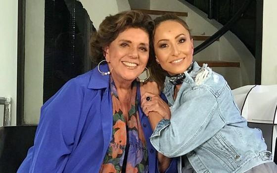 Leda Nagle e Sabrina Sato: a apresentadora entrevistou a nora para seu canal no Yotube e garante que o papo foi hilário (Foto: Divulgação)