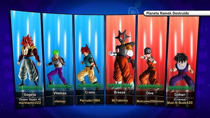 Batalha online de Dragon Ball Xenoverse (Foto: Reprodução/Victor Teixeira)