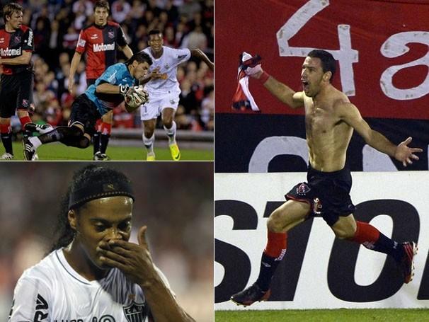 Ronaldinho não conseguiu evitar a derrota do Galo no último jogo (Foto: AP/Reprodução: Globoesporte.com)
