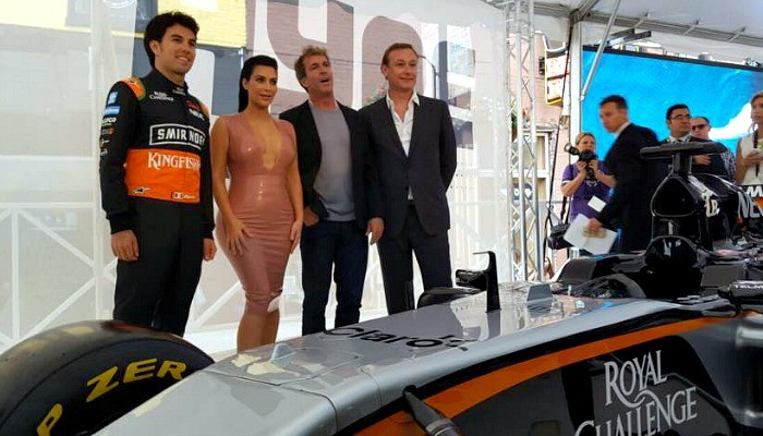 Sergio Pérez Kim Kardashian Force India