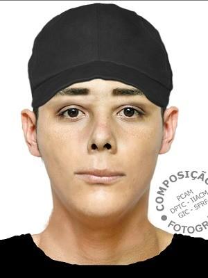Retrato falado foi divulgado nesta terça-feira (Foto: Divulgação/Polícia Civil)