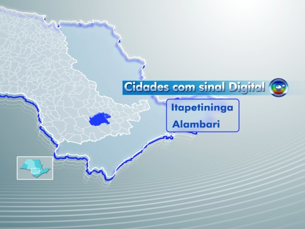 MAPA CIDADES DIGITAL GI ITAPETININGA (Foto: Editoria de Arte)