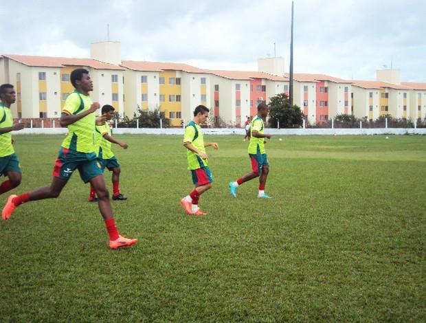Jogadores do Sampaio intesificarão treinamentos durante folga na rodada (Foto: Afonso Diniz/Globoesporte.com)