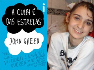Livro 'A culpa é das estrelas' e a fã Carol Saporito, que diz ter 'empatia' por personagem com câncer (Foto: Divulgação  / Arquivo Pessoal)