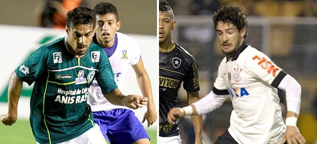 montagem Araújo Pato Goiás x Corinthians (Foto: Editoria de Arte / Globoesporte.com)