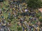 Manifestantes se reúnem na região de Bauru em protestos contra o governo