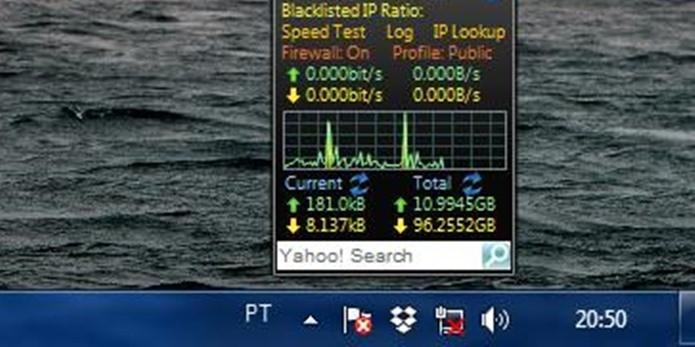 Símbolo da rede indicando cabo desconectado (Foto: Reprodução / Dario Coutinho)