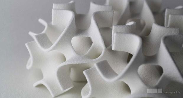 Empresa criou fórmula para fazer açúcar se manter 'de pé' após impressão (Foto: Divulgação/The Sugar Lab)