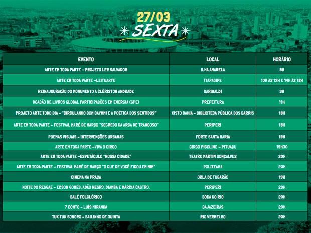 Programação do sexto dia do Festival da Cidade (Foto: Divulgação / Agecom)