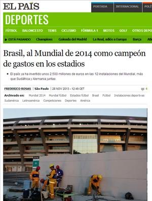 Jornal El Pais (Foto: Reprodução)