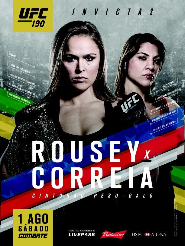 Pôster UFC 190 Ronda Rousey Bethe Correia