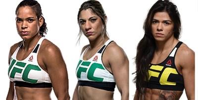 Amanda Nunes; Bethe Correia; Claudia Gadelha (Foto: Montagem Infoesporte)