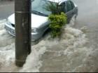 Chuva desta segunda-feira deixa ruas de Itu alagadas