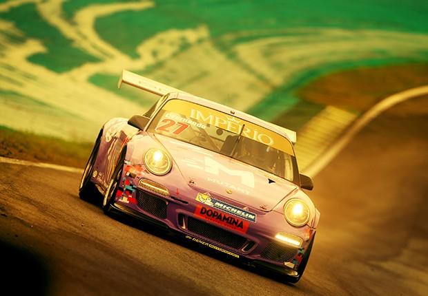 Nando Elias, com o quarto tempo no Q1, já sinalizava que seria o nome a ser batido na classe Sport. (Foto: Divulgação/Luca Bassani/Porsche Império GT3)