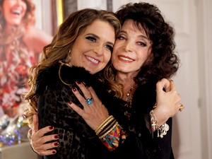 Atriz repete parceria com Cláudia Abreu (Foto: Cheias de Charme / TV Globo)