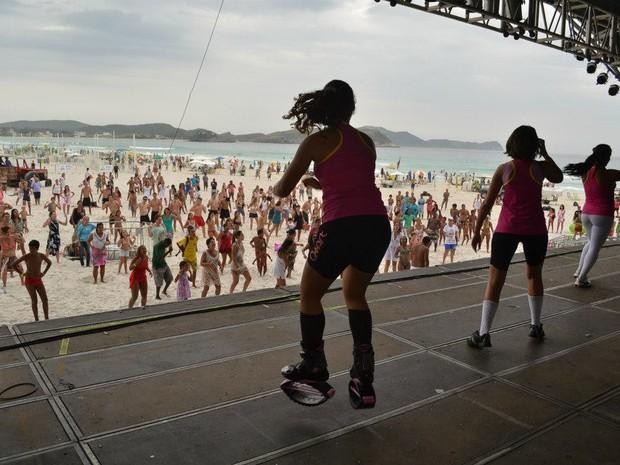 Aulas de ginástica e esportes fazem parte da programação (Foto: Leonardo Bileo / Divulgação)