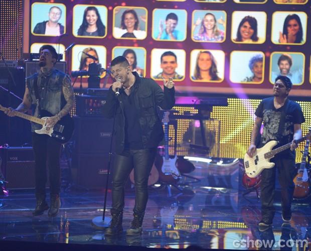 Malta se apresenta no Top 9  (Foto: Camila Serejo / TV Globo)