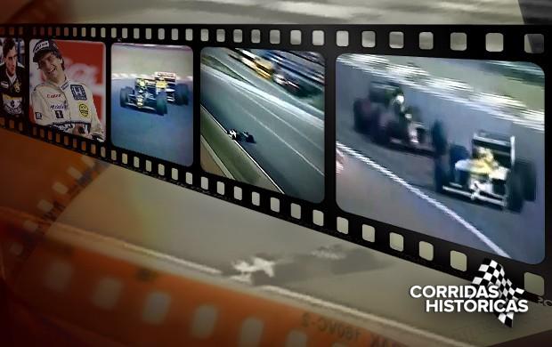 chamada CARROSSEL Corridas Históricas Senna Piquet 2 (Foto: arte esporte)
