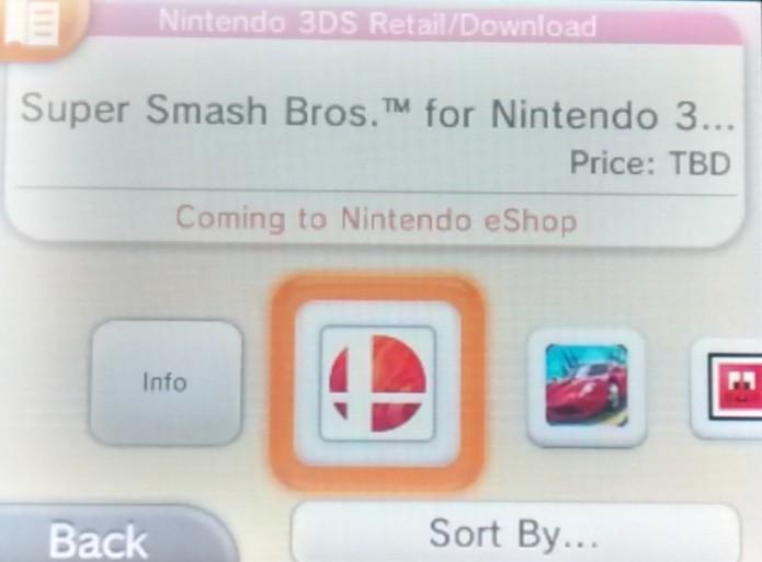 Super Smash Bros estará logo no início da categoria (Foto: Reprodução/Paulo Vasconcellos)