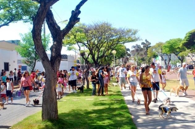 Na edição anterior, o publico compareceu levando seus bichinhos (Foto: Rubens Santana (Assessoria Pet shop Agroaves))