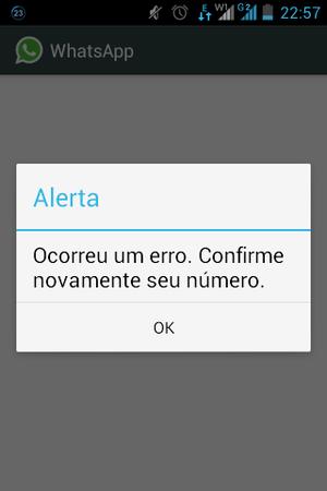 Erro no Whatsapp (Foto: Reprodução / TechTudo)