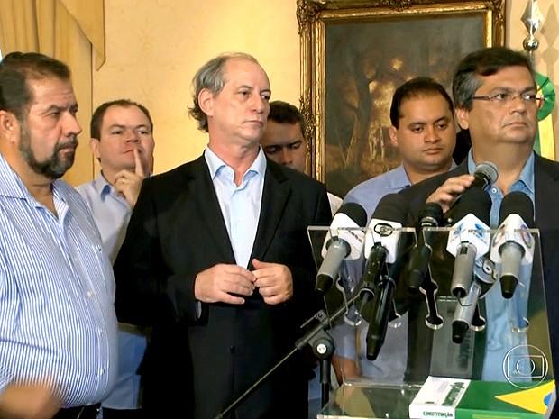 Mobilização foi lançada por representantes do PDT e o governador Flávio Dino (Foto: Reprodução / Globo)