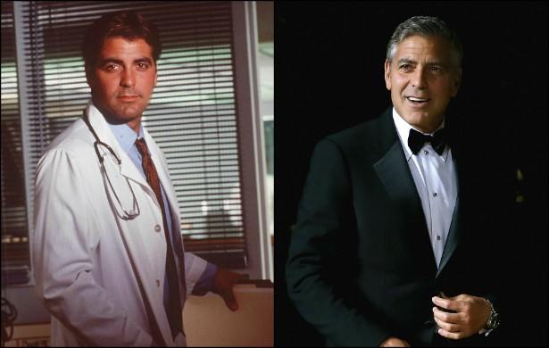 Quem não queria ficar nas boas mãos do Dr. Doug Ross da série 'Plantão Médico' (1994–2009)? No início da terceira temporada da série, George Clooney tinha 34 anos. Atualmente tem 53 — e continua supercharmoso. (Foto: Getty Images)