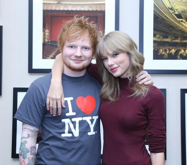 Ed Sheeran e Taylor Swift (Foto: Getty Images)
