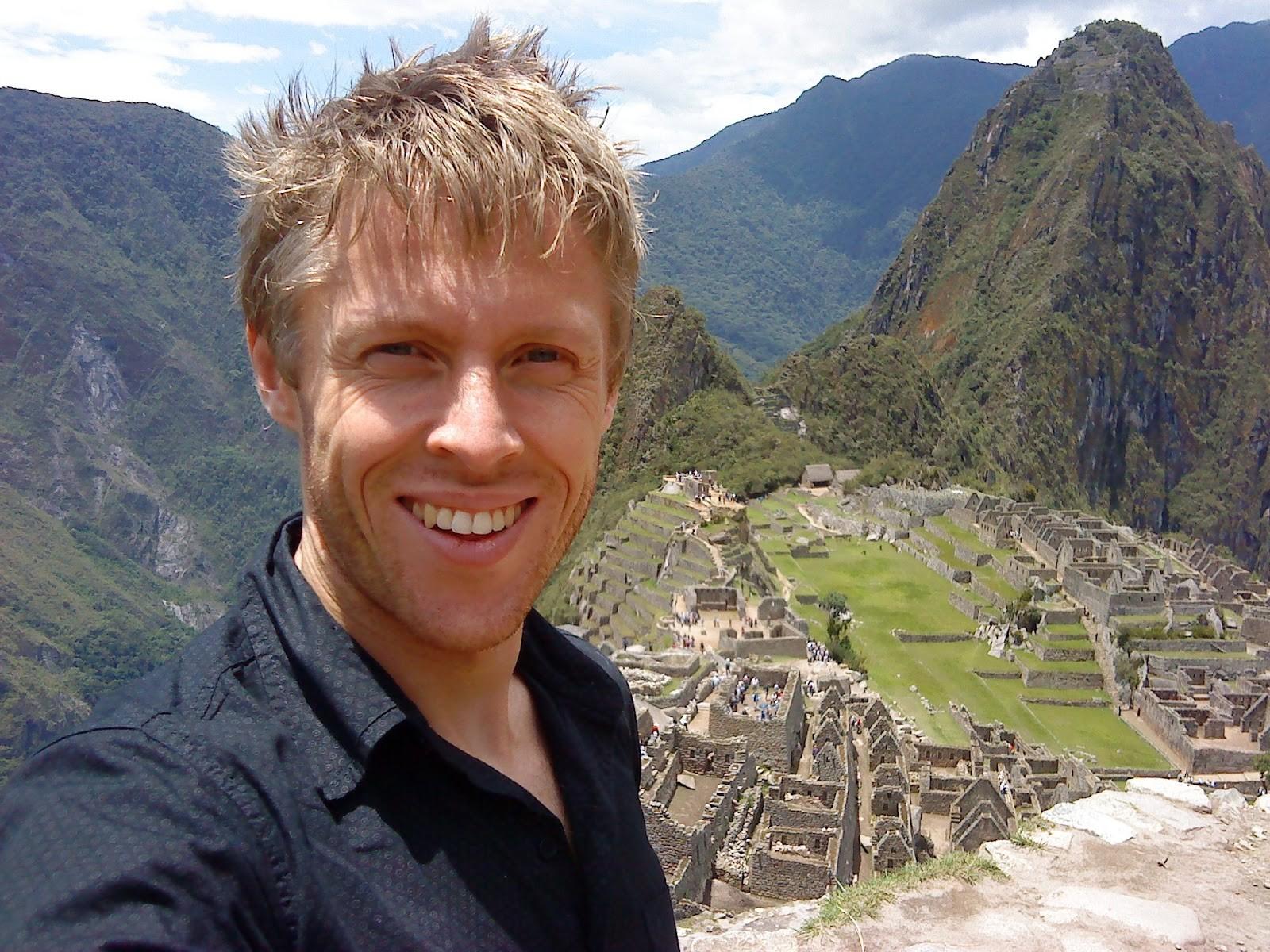 Gunnar Garfors em Machu Picchu, no Peru (Foto: Divulgação)