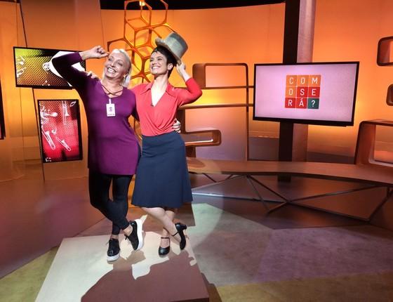Para fazer bonito na TV, Sandra Annenberg ensaiou um trecho da coreografia de Chorus Line (Foto: Divulgação/ Rede Globo)