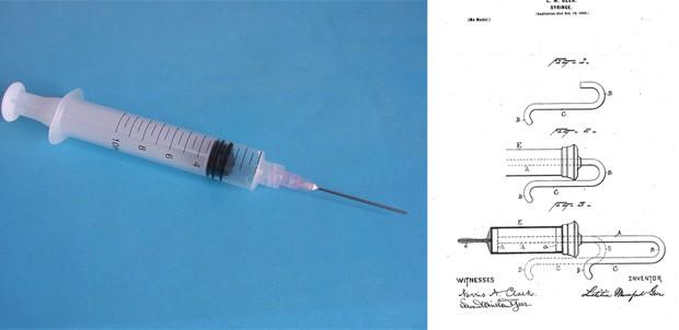 Letitia Mumford Geer foi a responsável por introduzir o modelo de seringa operada com apenas uma mão (Foto: Wikimedia Commons, Google Patents)