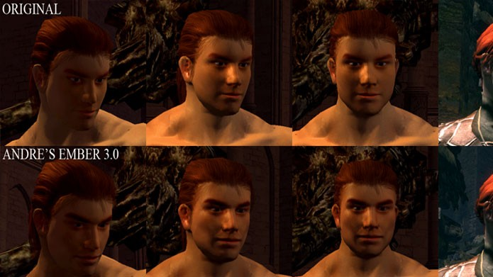 Com este mod você pode substituir as texturas da face dos personagens (Foto: Divulgação/Nexus Mods)