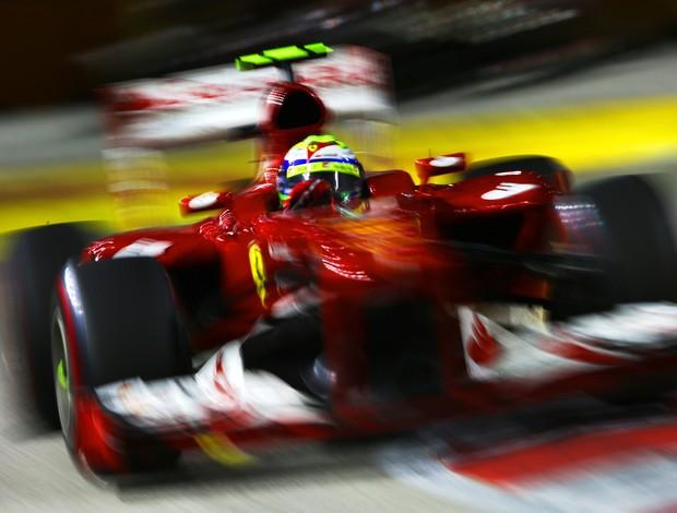 Felipe Massa em ação no GP de Cingapura de Fórmula 1 (Foto: Getty Images)