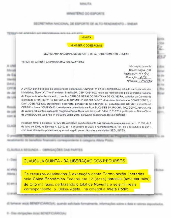 Montagem-Contrato-Davi (Foto: infoesporte)